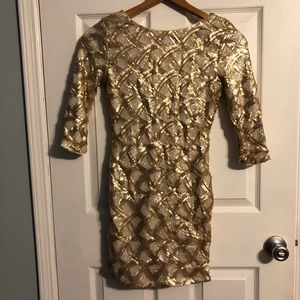Never used sparkly gold dress.
